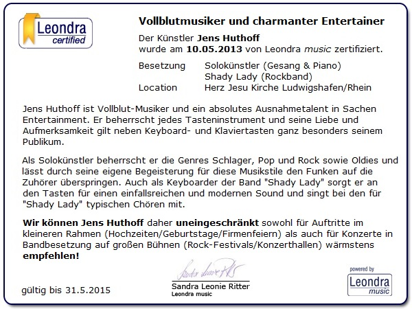 Vollblutmusiker und charmanter Entertainer